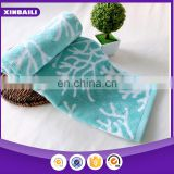 wholesale yarn dyed jacquard 100% cotton face towel