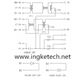 Ingke YKJU-8199NL 100% cross  ARJC01-111002L RJ45 Magjack Connectors