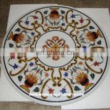 White Marble Inlay Table Top, Marble Coffee Table Tops
