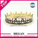 Fashion rhinestone alloy bridal tiara wedding crown beauty queen crowns