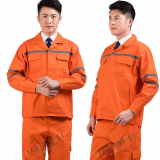 wholesale custom logo reflective stripe long sleeved construction work uniform clothes