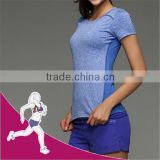 88% Polyester 12% Spandex Fabric Dry fit yoga sport wear, quik dry gym wear garment t-shirt
