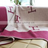 NO.1 China blanket factory life comfortable travel set home textile full size check wool throw plaid blanket