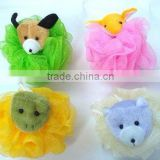 Children Animal bath mesh sponge