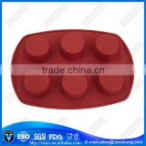Safety And Economic 6 Holes Round Shape Silicone Moulds for Candle