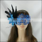 fashion masquerade party mask with chicken feather and flower