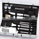 yangjiang factory manufacture stainless steel BBQ tools deluxe bbq grill set for BARBECUE