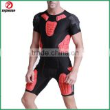 Safe Guard Padded Compression Sports Shorts Protective T-Shirt Pants Suit for Football Basketball Parkour Extreme Exercise
