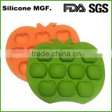 Shinerin apple shaped ice cube tray silicone hip pop mould