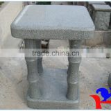 bamboo style stone chair