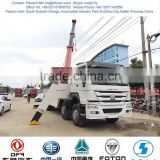 Howo popular heavy duty wrecker truck,8*4 heavy duty rotator wrecker towing truck for sale