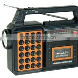 Good Quality Classic AM/FM/SW Torch Light Rechargeable Cassette Recorder Radio