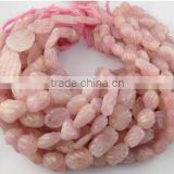 "1 Strand Natural Carving Rose Quartz Nuggets Beads,10x12-14x19-12x20-15x23mm 12"", Natural Rare Gemstone"