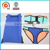 Hot sale lathest Neoprene padded swimwear sexy girls bikini with backpack                                                                                                         Supplier's Choice