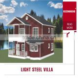 China light luxury prefabricated steel frame villa house                                                                                                         Supplier's Choice