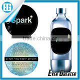 round plastic water bottle labels waterproof,custom pvc double sides uv protection sticker label
