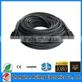 OEM High Quality hdmi cable 1.4v for 3D HD 1080P 4Kx2K extra long 50m hdmi cable (or at customers' request)
