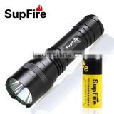 Supfire rechargeable 10w high power 720lm CREE T6 led power style flashlight with 1*26650 Battery
