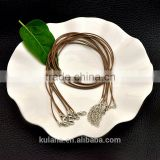 Wholesale brown wax cotton cord necklace for pendant bracelet jewelry making 92304