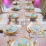 wholesale pink and gold sequin table runner for wedding                                                                         Quality Choice