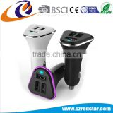 BSCI factory Hot sale mobile phone accessories triple 3 USB ports auto charger cellphone car charger
