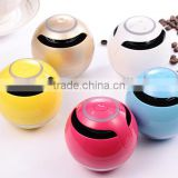 Colorful classic ball shape hands free built in battery portable bluetooth mini car speaker with led light