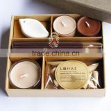 Excellent quality home decoration ceramic oil burner with fragrance tealight and incense stick and incense cone