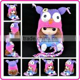cute crochet animal pattern infant baby girl hat toddler owls knit crochet hats for newborns
