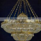 Fancy big antique chandeliers crystal for banquet hall