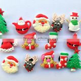 shoe decoration and wristband bracelet christmas santa claus charms(Box- christmas santa claus shoelace charm-234b)