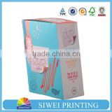 Customize design covered paper cardboard packaging luxury chocolate strawberry boxes