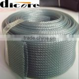 Nylon grey and black Flame retardant wire harness decorative PET expandable sleeving same as ARAYEFLEX/GRP110