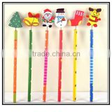 rubber soft pencil topper, custom cartoon pencil topper in standard pencils, plastic pencil topper manufacturer