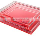 Customized acrylic lucit beer tray/tea tray/cocktial tray/plastic fruit tray