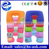 A-OK multi-function inflatable travel pillow neck/back air cushion,car seat neck pillow                                                                         Quality Choice