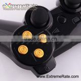 repair parts for PS3 controller button, metal gold aluminum alloy bullet buttons for ps3