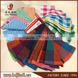 Alibaba china wholesale stock promotion yarn dyed check plain 100% cotton tea towel