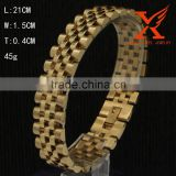 In Stock Stainless Steel Vintage President 18k Yellow Gold Watch Strap Gold Bangle Bracelet