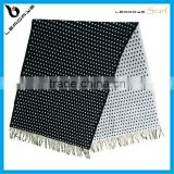 black and white polka dots scarf cashmere
