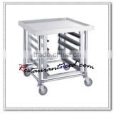 S061 Stainless Steel GN Pan Trolley With Top Bench Racks