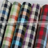 Colorful Check Pattern Yarn Fabric Soft Cotton Blended Polyester Fabric for Shirts Manufacturer