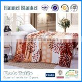 100%polyester leaf print super soft flannel fleece blanket
