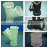 Customer made plastic elbow pipe and tee pipe fitting mould in PVC
