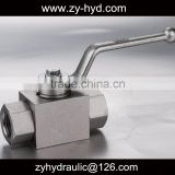 SAE thread 5/16-24 hydac standard KHM series stainless steel high pressure ball valve
