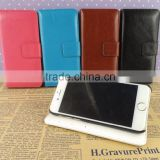 leather flip case for iphone 6 with your logo flip stand phone accessories wholesale phone cases