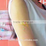 custom hot sale rhinestone metallic tattoo acrylic foil temporary tattoo stickers