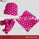 polar fleece scarf hat glove set