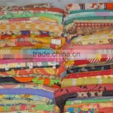 Antique vintage Indian sari kantha quilt,Cotton saree kantha blanket,bed cover,gudari handmade kantha reversible bedspread