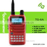 Single band vhf radio TG-6A ham radio with high gain antenna