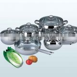 12pcs stainless steel cookware commercial electric wok